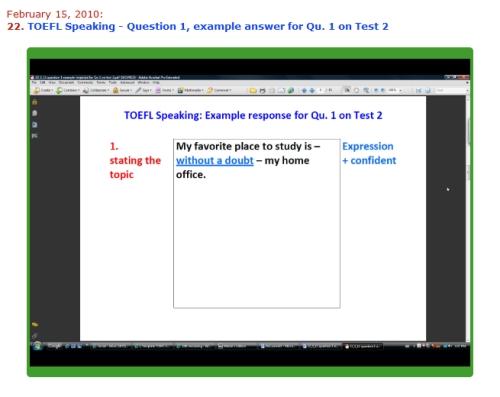 sample toefl essay questions