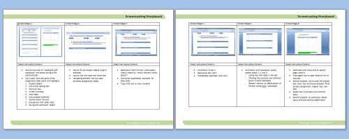 learning twigs  preparing for screencasting via storyboards