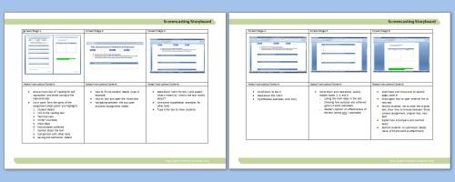 Learning twigs preparing for screencasting via storyboards er blog screencast storyboard maxwellsz