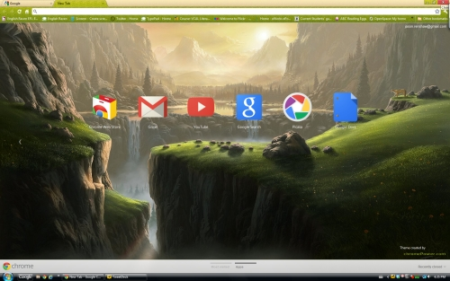 Chrome browser theme
