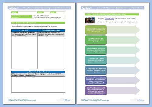 VCAL Senior Oral Communication - Barefoot Teacher worksheet