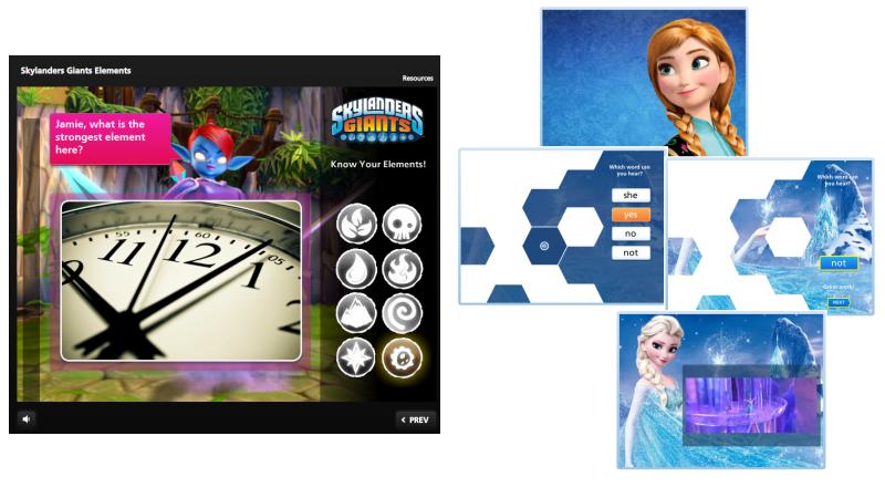 Articulate Games Skylanders and Frozen